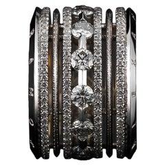 Alexandra Mor Wide Brilliant-Cut Diamond Platinum Eternity Band Ring L/E 2/50
