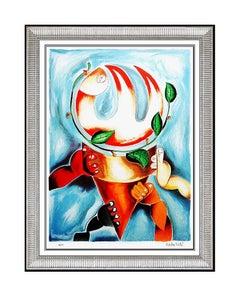 Alexandra Nechita Color Lithograph Original SIGNED Large Petite Picasso Artwork