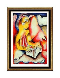 Alexandra Nechita Large Original Color Lithograph Signed Flashlight Heaven Art