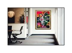 Alexandra Nechita Large Serigraph On Canvas Signed Summer Europe Petite Picasso