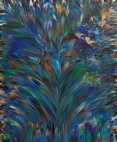 Peacock V  20 x 24 IN, Painting, Acrylic on Canvas