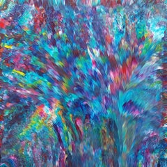 Psychedelic Waterfall No. 3  36 x 36 IN, Painting, Acrylic on Canvas