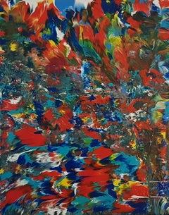 "Rising Sun  16"" x 20"", Painting, Acrylic on Canvas"