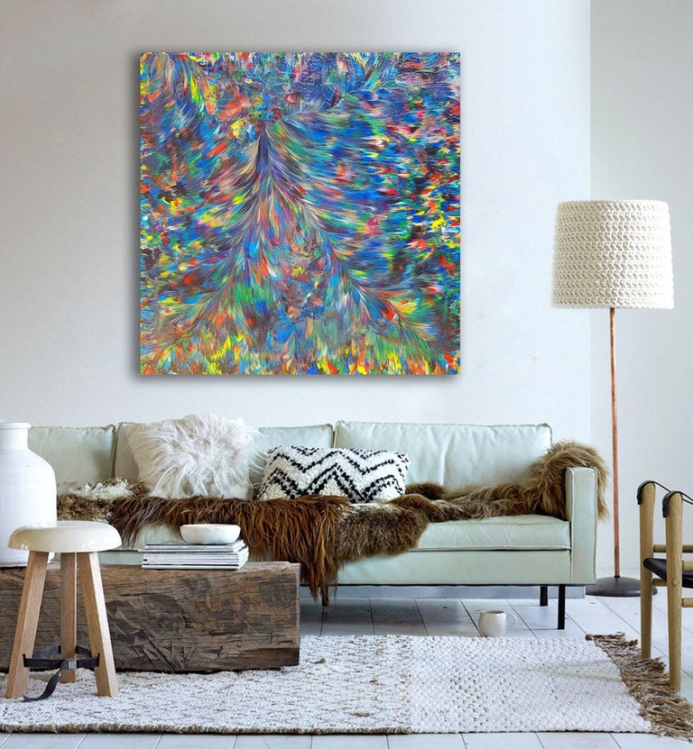 Wild Peacock, Painting, Acrylic on Canvas For Sale 1