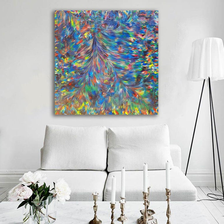 Wild Peacock, Painting, Acrylic on Canvas For Sale 2
