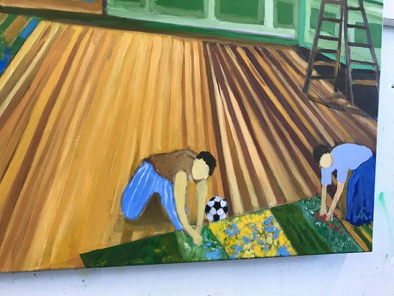 Our First Harvest in Paris - Contemporary Painting by Alexandra Rozenman