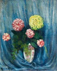 Bouquet De Fleurs Large Russian Impressionist Oil c. 1916 by Alexandre Altmann
