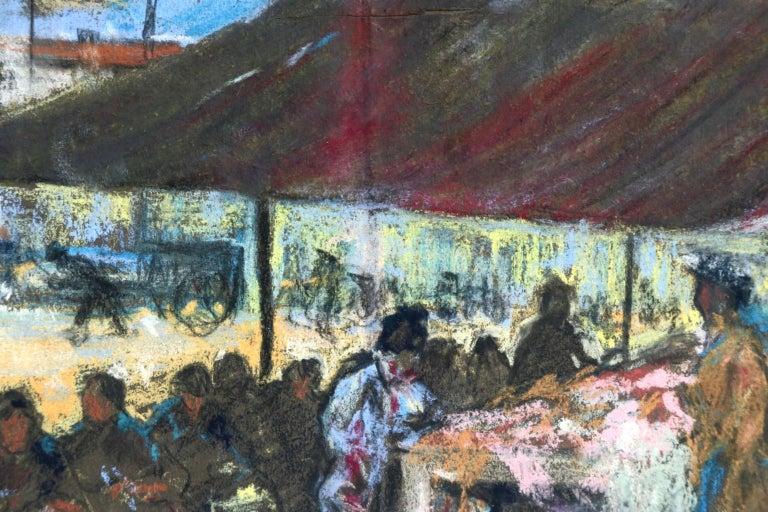 Figures in a Market - Fauvist Pastel, Women in Market by Alexandre Altmann For Sale 9