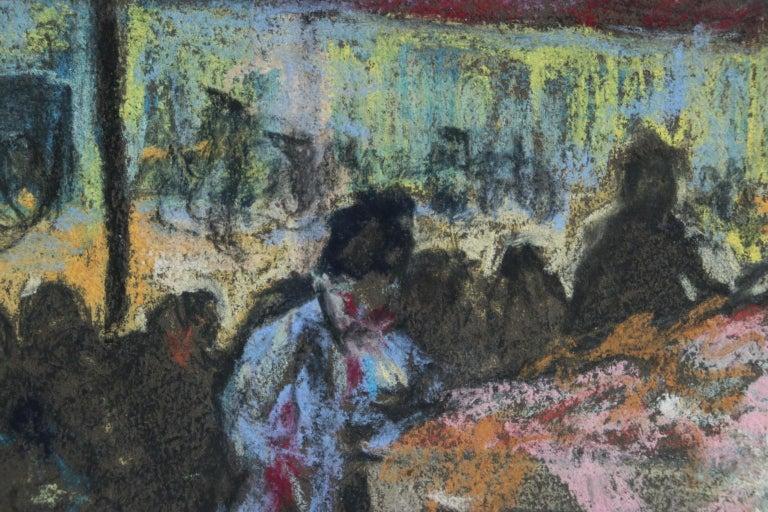 Figures in a Market - Fauvist Pastel, Women in Market by Alexandre Altmann For Sale 3