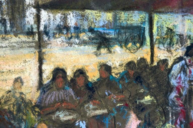 Figures in a Market - Fauvist Pastel, Women in Market by Alexandre Altmann For Sale 6