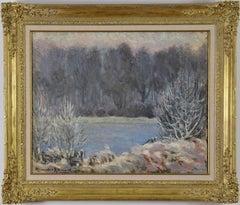 Winter Landscape by ALEXANDER ALTMANN - Impressionist winter landscape painting