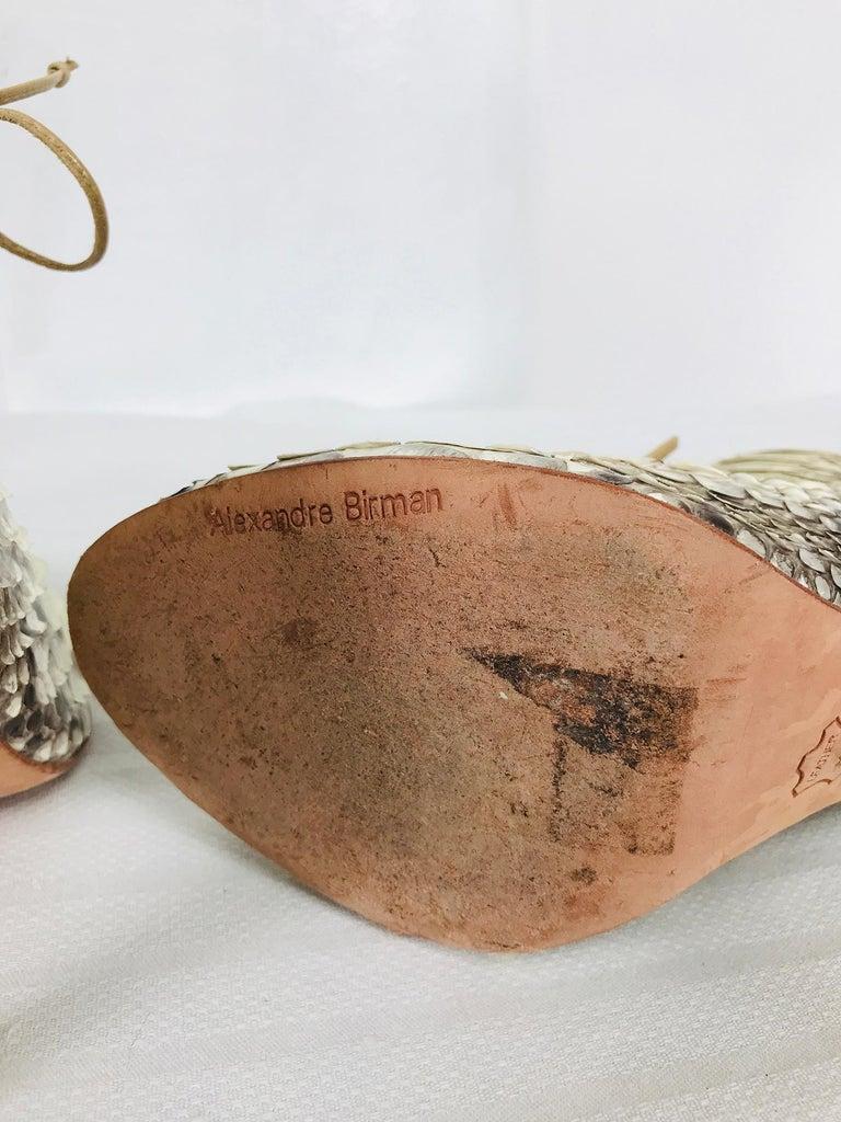 Alexandre Birman Python Laced Front Open Toe Sling Back High Heels 9B For Sale 2