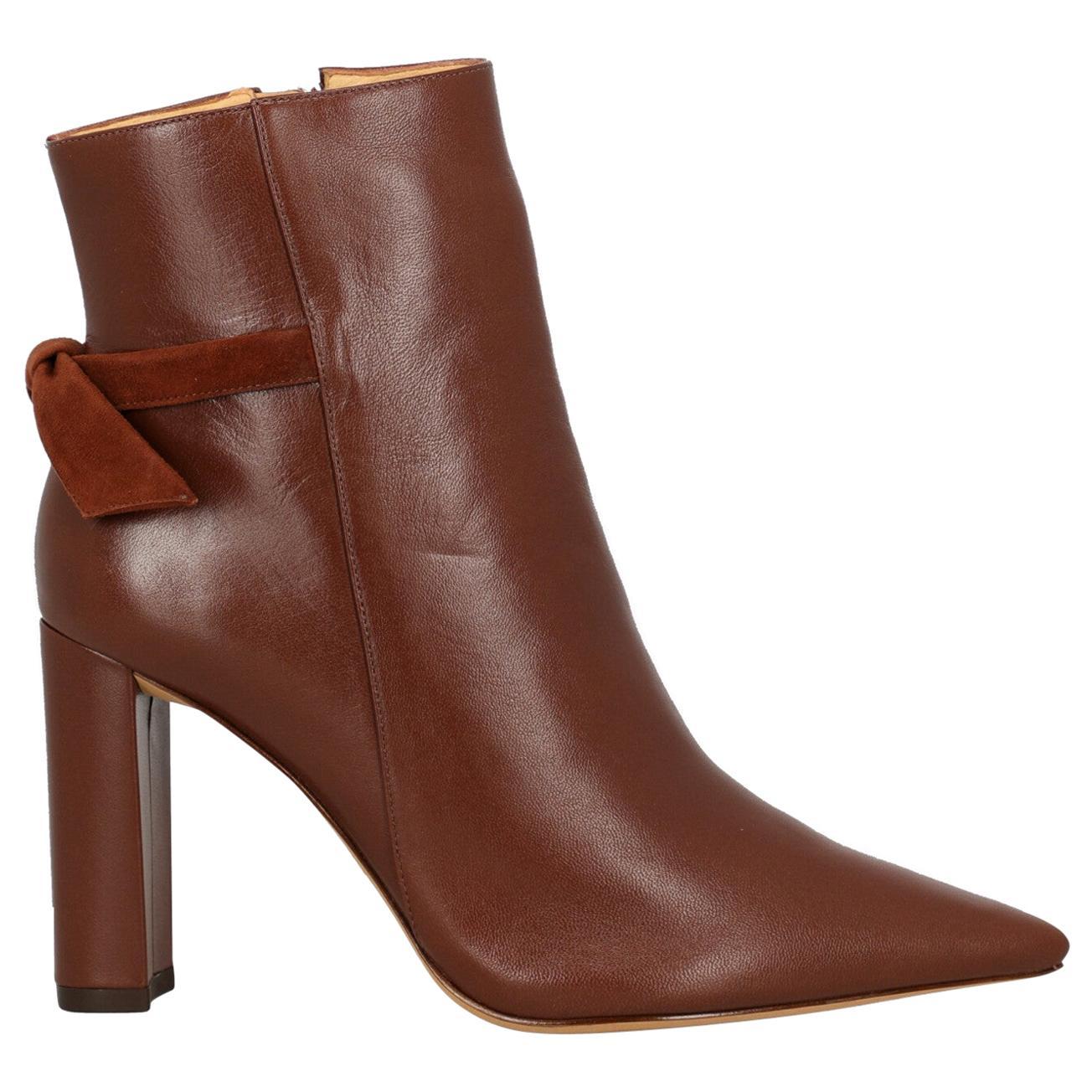Alexandre Birman Woman Ankle boots Brown Leather IT 38.5