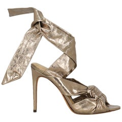 Alexandre Birman Woman Sandals Gold Leather IT 39