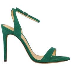 Alexandre Birman Woman Sandals Green Leather IT 39