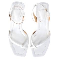 Alexandre Birman Woman Sandals White Leather IT 38.5