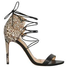 Alexandre Birman  Women   Sandals  Beige, Black Leather EU 36.5