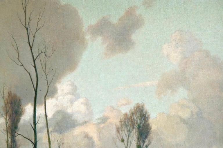 Eclaircie sur le Marais - Environs d'Amiens - Impressionist Landscape  - A Jacob For Sale 4