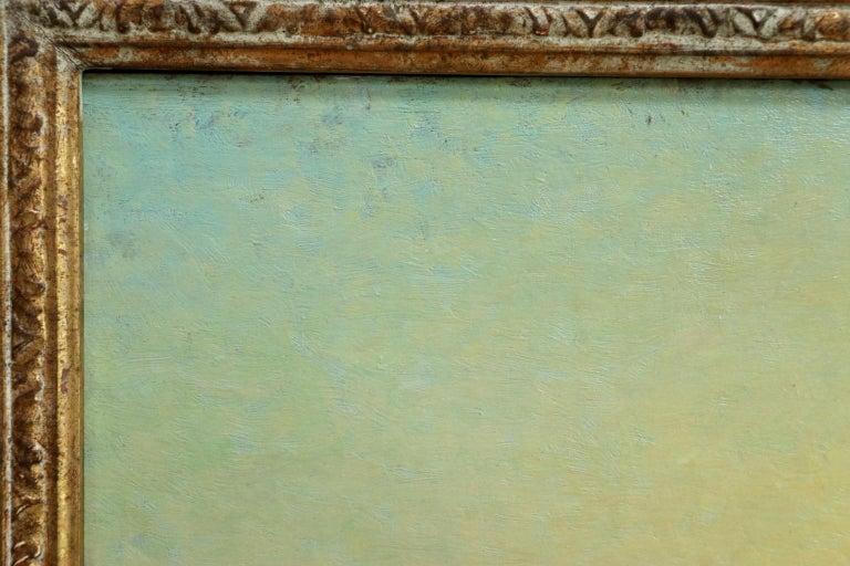 Sunset - Hayfields - Impressionist Oil, Haystacks in Landscape - Alexandre Jacob For Sale 4