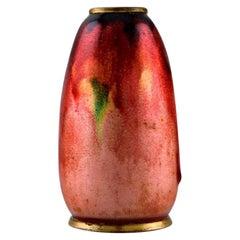 Alexandre Marty for Limoges, France, Art Nouveau Bronze Vase, circa 1910