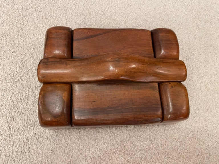 Alexandre Noll, Wood Box, circa 1950, France 'Signed' For Sale 4