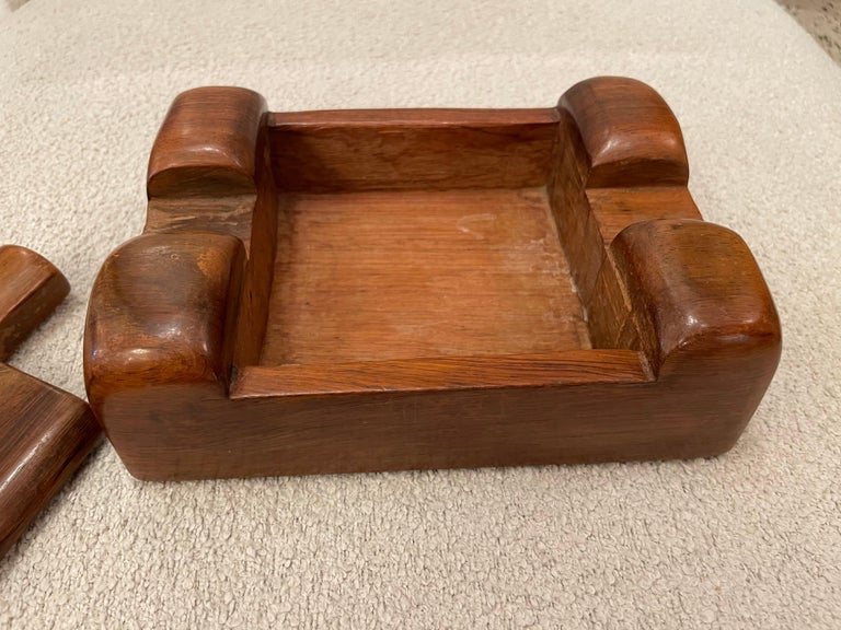 Alexandre Noll, Wood Box, circa 1950, France 'Signed' In Good Condition For Sale In East Hampton, NY