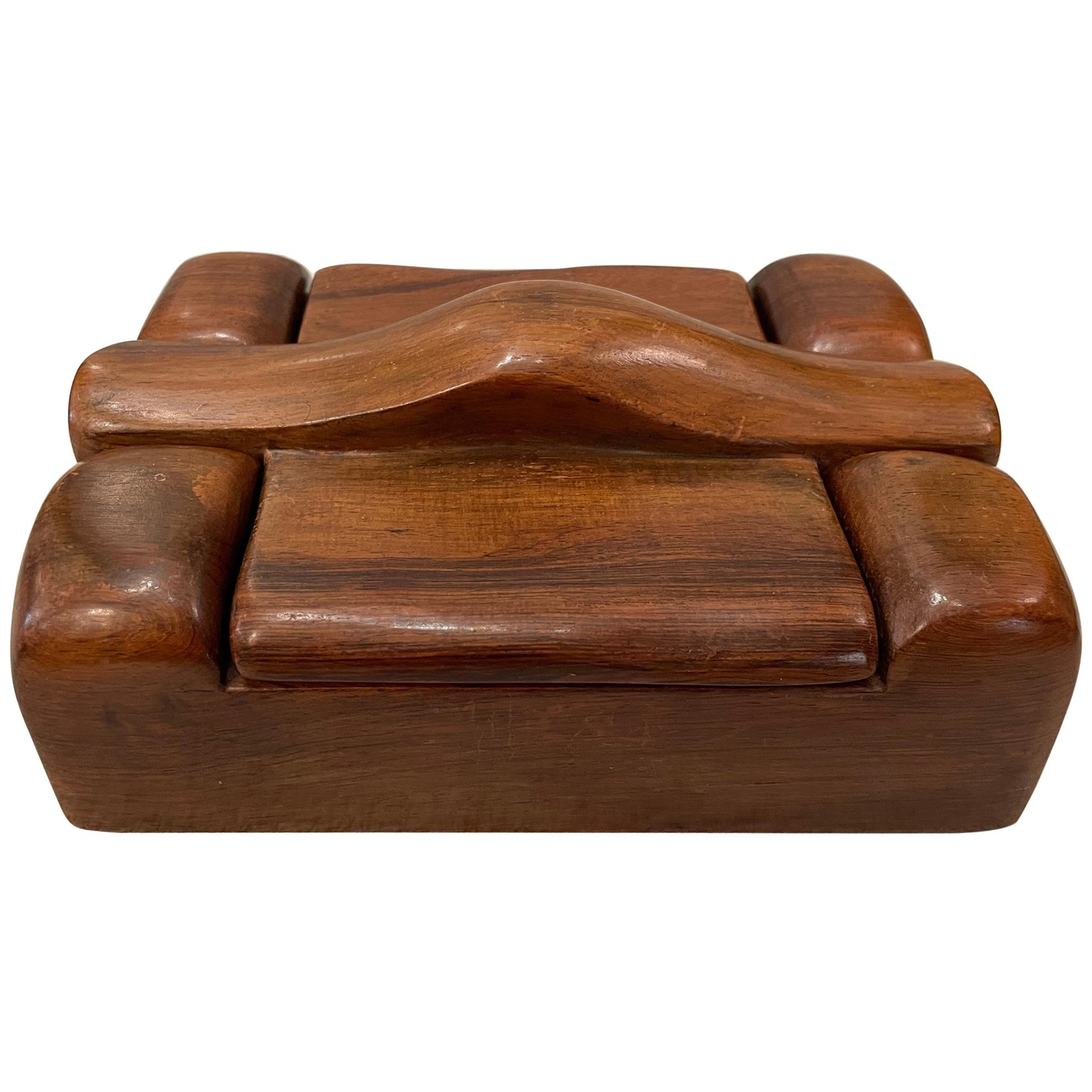 Alexandre Noll, Wood Box, circa 1950, France 'Signed'
