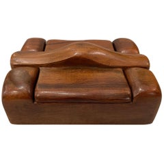 Alexandre Noll, Wood Box, circa 1950, France 'Signed'