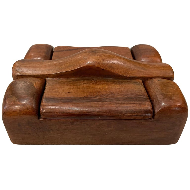 Alexandre Noll, Wood Box, circa 1950, France 'Signed' For Sale
