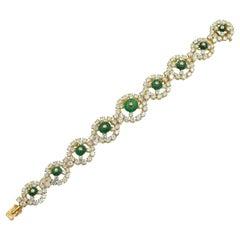 Alexandre Reza Emerald and Diamond Bracelet