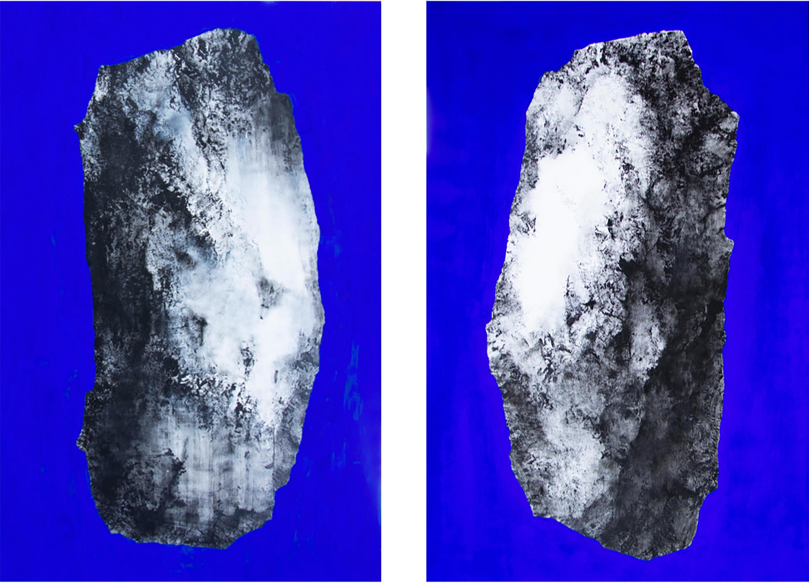 Bleu - Pierre V & VI (Diptych)