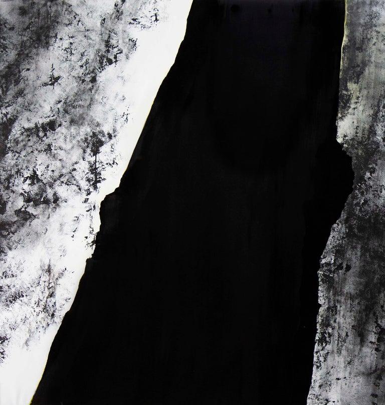 Noir - Pierre I - Painting by Alexandre Valette