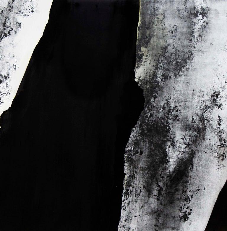 Noir - Pierre I - Black Interior Painting by Alexandre Valette