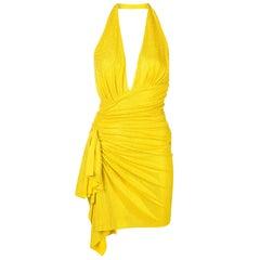 Alexandre Vauthier Crystal-Embellished Halter Mini Dress