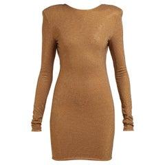 Alexandre Vauthier Crystal-Embellished Open-Back Mini Dress