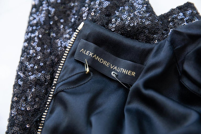 Women's Alexandre Vauthier Long Sleeve Sequin Mini Dress For Sale