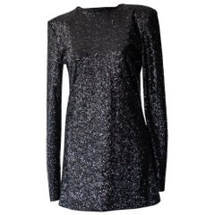 Alexandre Vauthier Long Sleeve Sequin Mini Dress