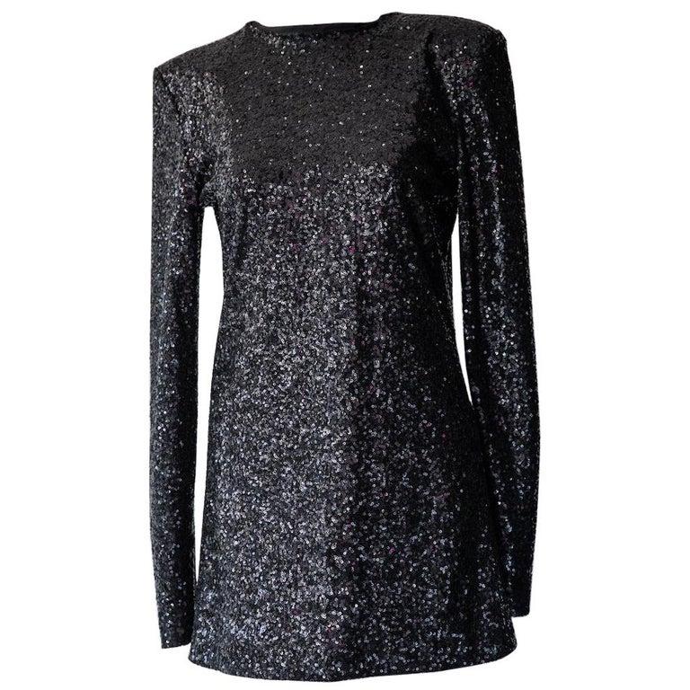 Alexandre Vauthier Long Sleeve Sequin Mini Dress For Sale