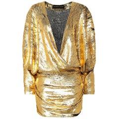 Alexandre Vauthier Metallic Mini Dress