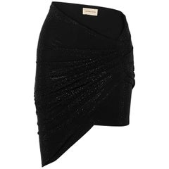 Alexandre Vauthier Ruched Crystal-Embellished Stretch-Jersey Mini Skirt