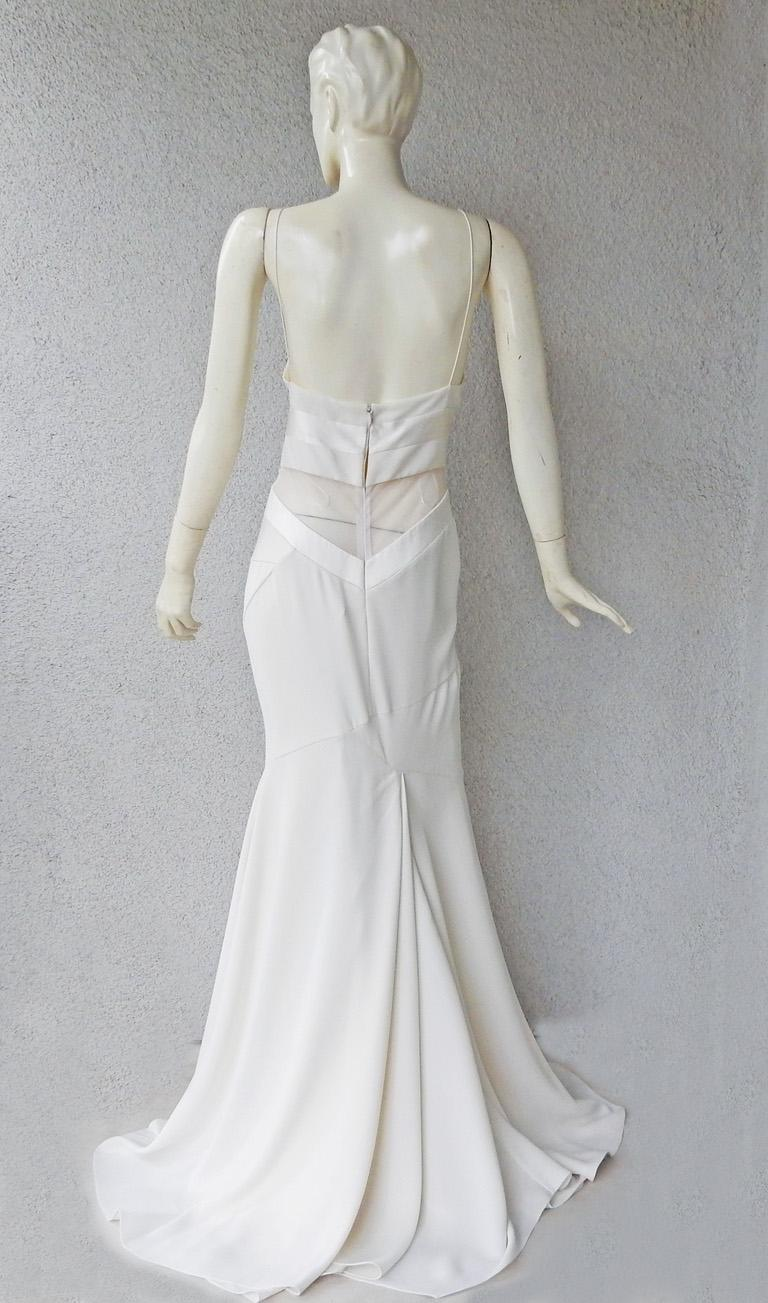 Alexandre Vauthier Seductive Sheer Inset Mermaid Dress Gown   New! In New Condition For Sale In Los Angeles, CA