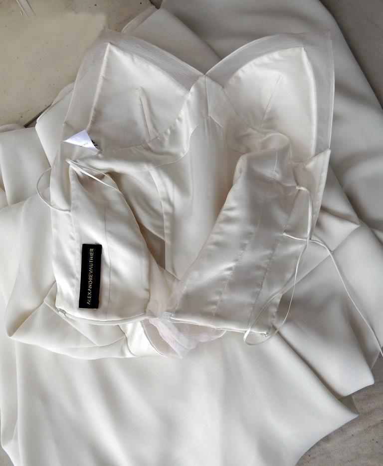 Women's Alexandre Vauthier Seductive Sheer Inset Mermaid Dress Gown   New! For Sale