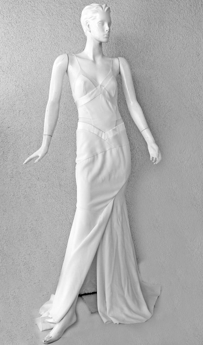 Alexandre Vauthier Seductive Sheer Inset Mermaid Dress Gown   New! For Sale 2
