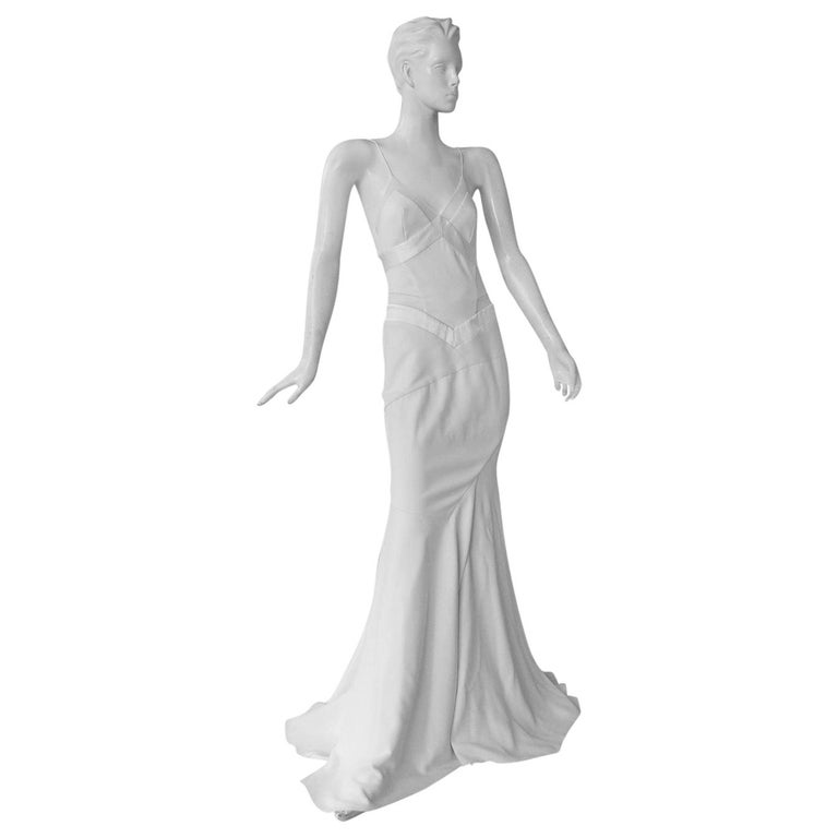 Alexandre Vauthier Seductive Sheer Inset Mermaid Dress Gown   New! For Sale
