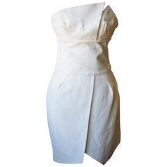 Alexandre Vauthier Strapless Asymmetrical Crepe Mini Dress