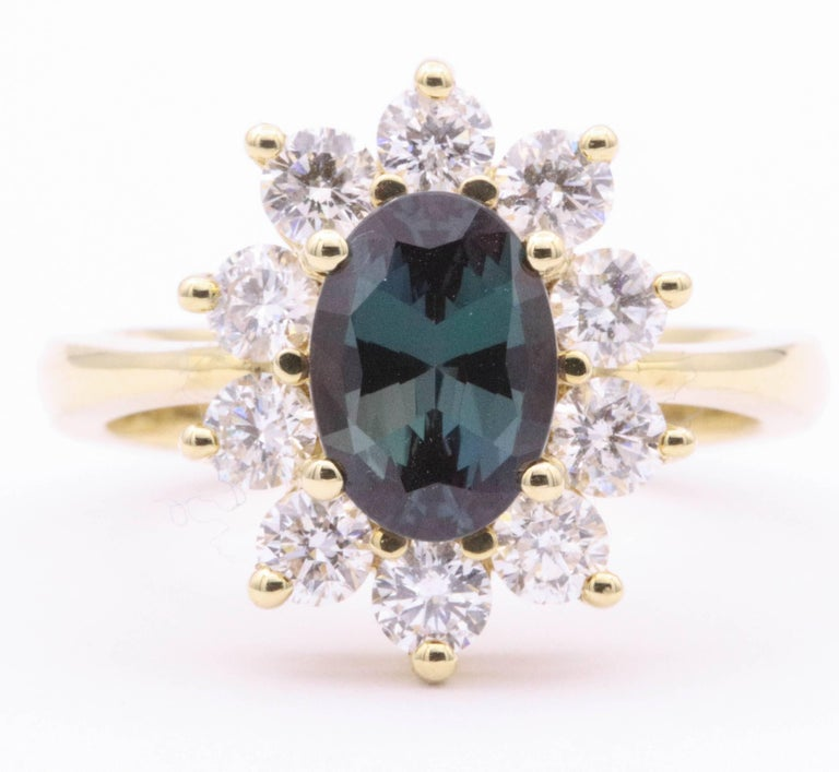 Contemporary Alexandride Lady Diana Ring with GUB Certificate 1.73 Carat For Sale