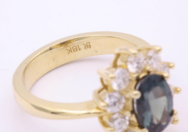 Women's Alexandride Lady Diana Ring with GUB Certificate 1.73 Carat For Sale