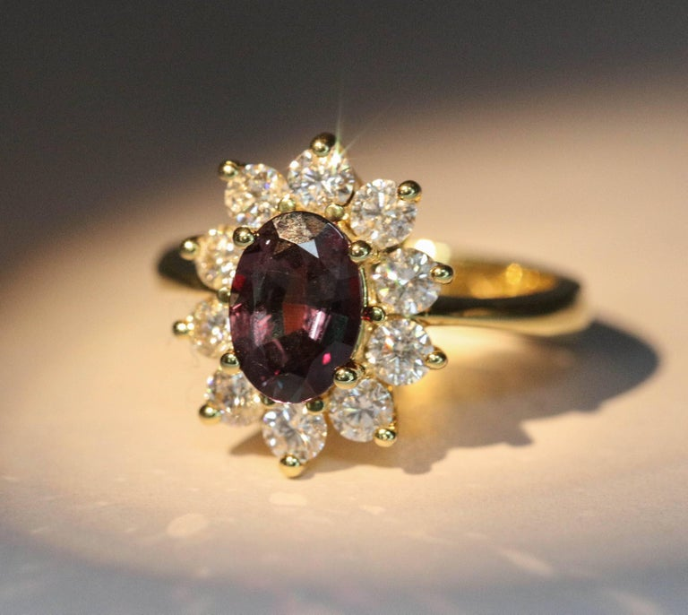 Alexandride Lady Diana Ring with GUB Certificate 1.73 Carat For Sale 2