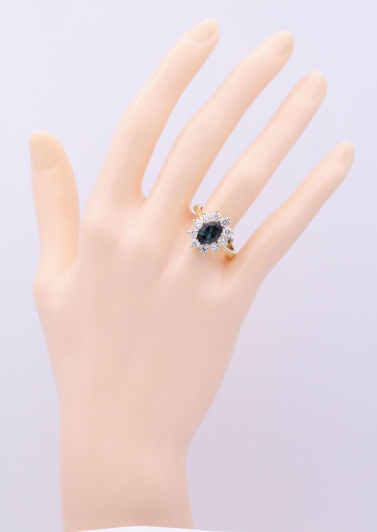 Alexandride Lady Diana Ring with GUB Certificate 1.73 Carat For Sale 3