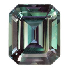 Alexandrite Ring Gem 2.07 Carat Emerald Cut Brazil